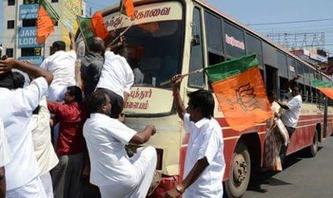 attack-on-bus-by-bjp-cadre